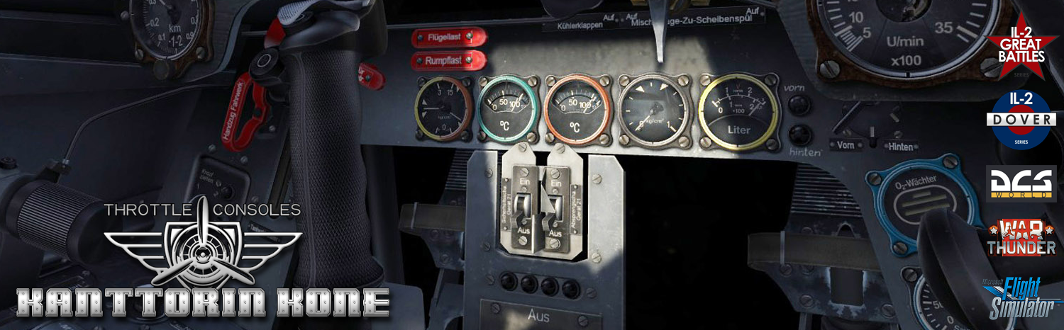 High quality and multifunctional throttle consoles (USB gaming controls) to WWII flight simulator hobbyist and home cockpits.